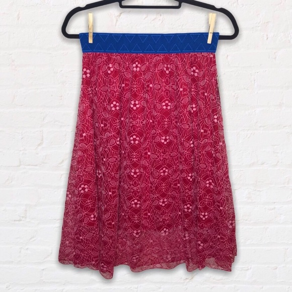 NWT LuLaRoe Lace Lola Skirt Size Small